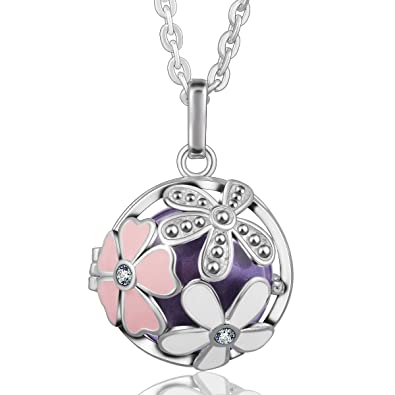 Eudora Harmony Ball Life Tree Pendant Lockets Sterling Silver Jewellery Chain Necklace