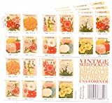 USPS Forever Stamps Vintage Seed Packets (100 Stamps: 5 x Booklets of 20)