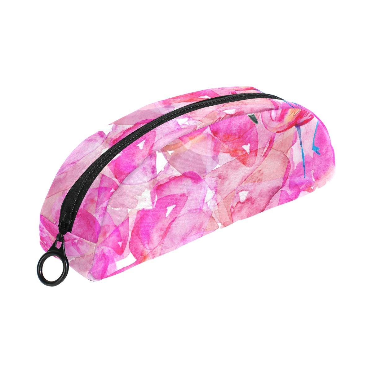 COOSUN - Estuche para lápices de flamencos rosas, semicircular ...