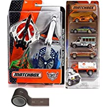 Matchbox Space City Rescue 5-Pack & Sky Busters Space ships Limo Service Vehicles / Taxi Cab / Shuttle Bus / Aero Blast Turbo high-flying adventures + City Road Track Tape