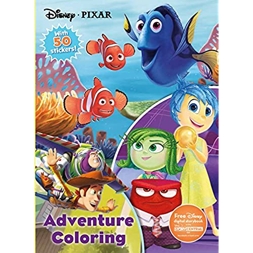 Disney Pixar Adventure Coloring Jumbo With 50 Stickers