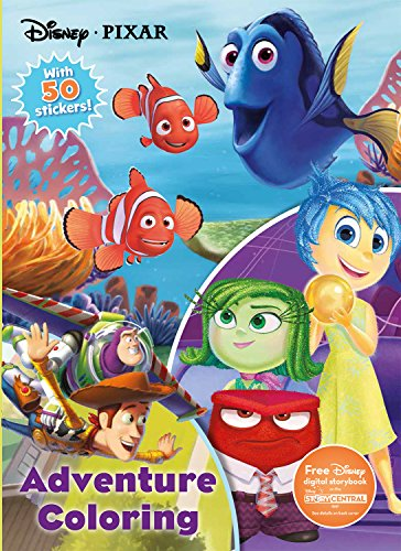 - Disney Pixar Adventure Coloring (Jumbo Coloring with 50 Stickers)