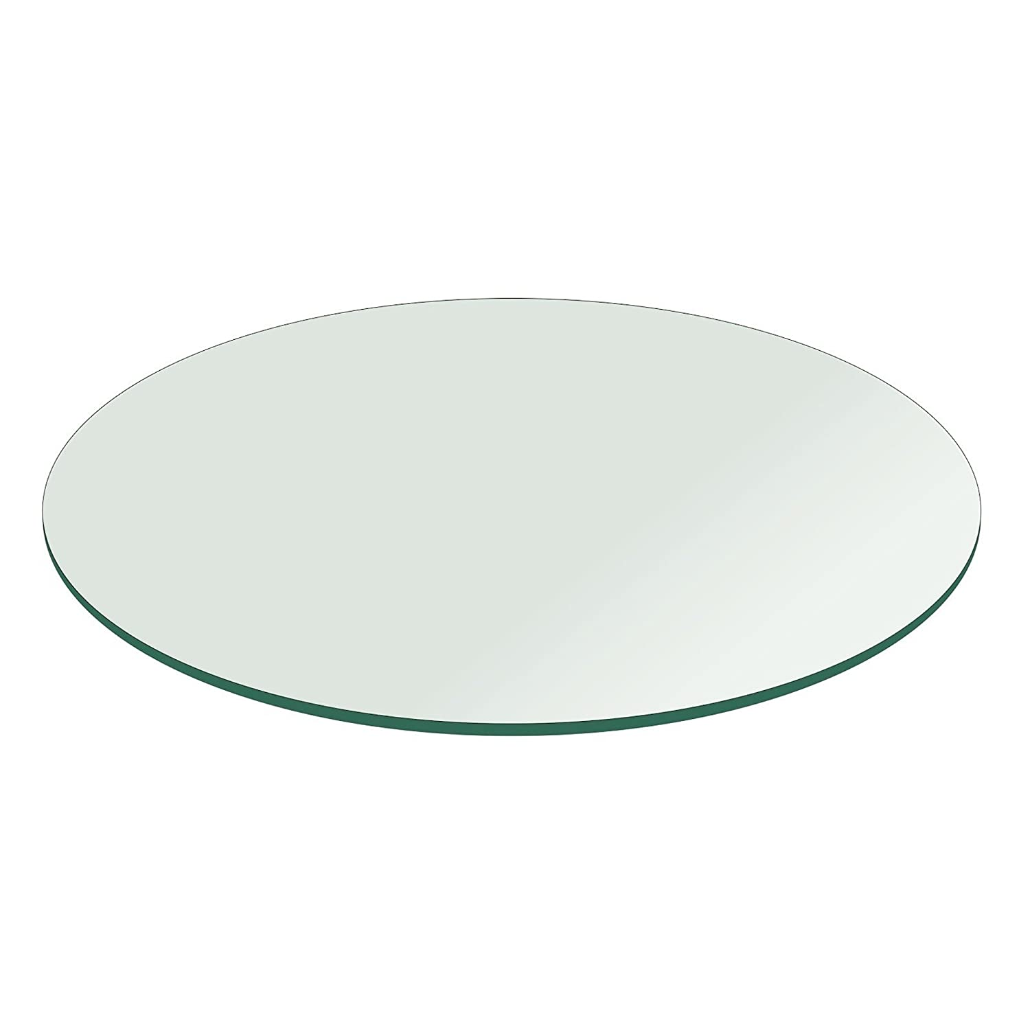 Glass Table Top: 20 inch Round 1/4 inch Thick Flat Polished Tempered Fab Glass and Mirror 20RT6THFLTE