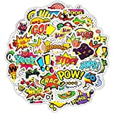 Mai Zi Stickers for Water Bottles-50 pcs Laptop Stickers Cute Water Bottles Stickers Pack for Teens Girls Suitcases Decoration Graffiti Patches Skateboard Popular Stickers(50 Piece Series-8)