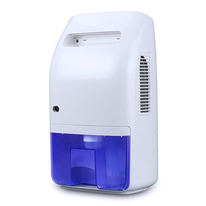 Ovonni 2L Deshumidificador Electrico Portátil, 750 ml deshumidificación diario, Bajo consumo, Auto-Apaga Seguro y Silencioso, Evitar las bactérias y ...