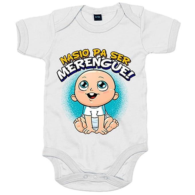 Body bebé nacido para ser Merengue Madrid fútbol - Azul ...