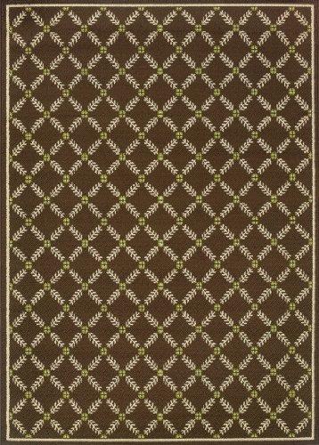 Granville Rugs Coastal Indoor/Outdoor Area Rug, Ivory/Blue/Brown, 5' 3 x 7 '6