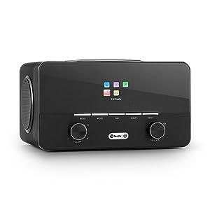auna Connect 150 BK • 2.1 Internet Radio • Wi-Fi Music Player • Spotify Connect • MP3 USB Port • AUX • Remote Control • Black
