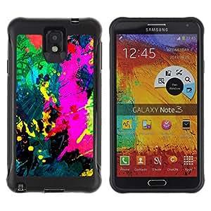 Suave TPU GEL Carcasa Funda Silicona Blando Estuche Caso de protección (para) Samsung Note 3 / CECELL Phone case / / Colorfol Bright Painting Modern Paint Splash /