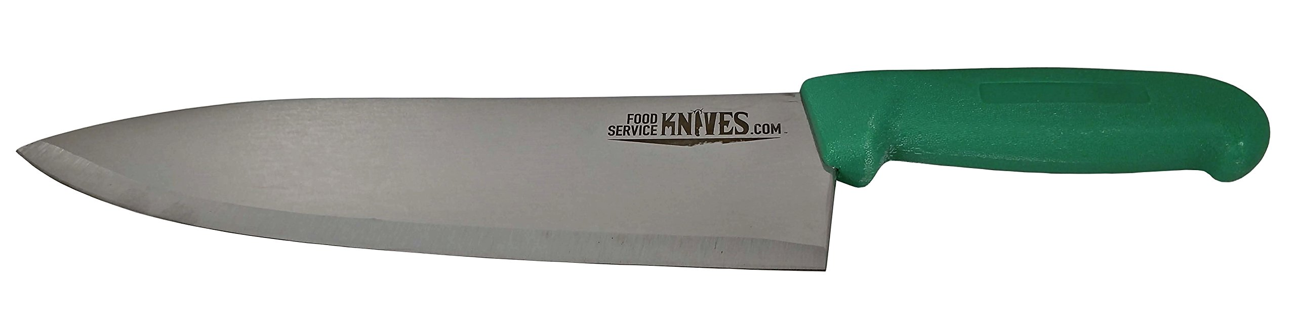 "Food Service Knives 10"" Professional Restaurant Chef Knife - Green - Color Coded for Safety - Choose Black, Blue, Red, Green, or Yellow - Cook French Stainless Steel New Sharp"