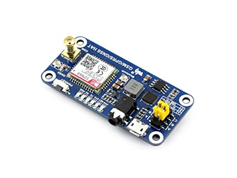 Amazon com: GSM/GPRS/GNSS/Bluetooth HAT Low Power Raspberry