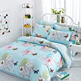 Pure cotton small fresh bed on four pieces cotton girls summer bed products- King