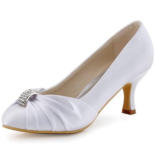 Mariee Femme De Chaussures Bal Escarpins Elegantpark Mariage Satin Hc1526 P0wXkO8n