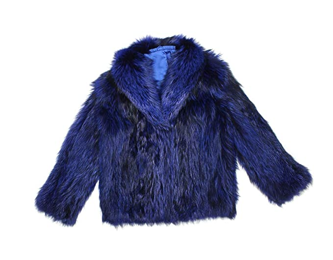 61f830212f3 Image Unavailable. Image not available for. Color  813344 New Plus Size  Blue Black Silver Fox Fur Jacket Coat Stroller X-Large