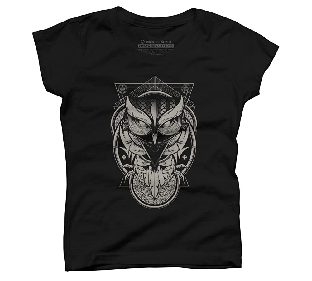 381748c704e2 Amazon.com: Design By Humans Alchemy Owl Girl's Youth Graphic T Shirt:  Clothing