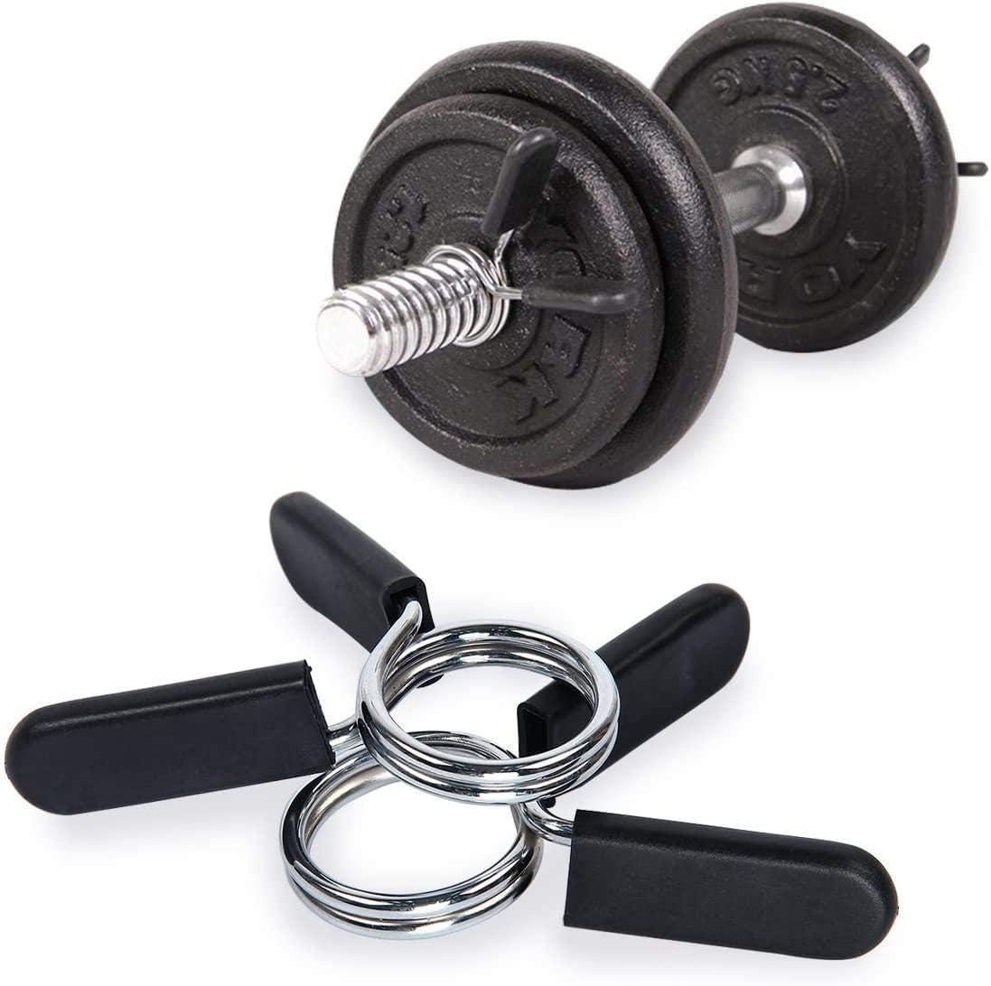 colliers de serrage pour halt/ères avec poign/ée en caoutchouc 25 mm 28 mm 30 mm 50 mm Renquen 1 paire de verrous /à ressort pour verrouiller les halt/ères