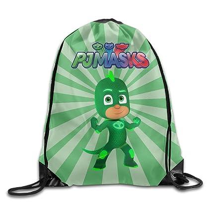 Pj Masks Greg/Gekko Drawstring Backpack Sack Bag