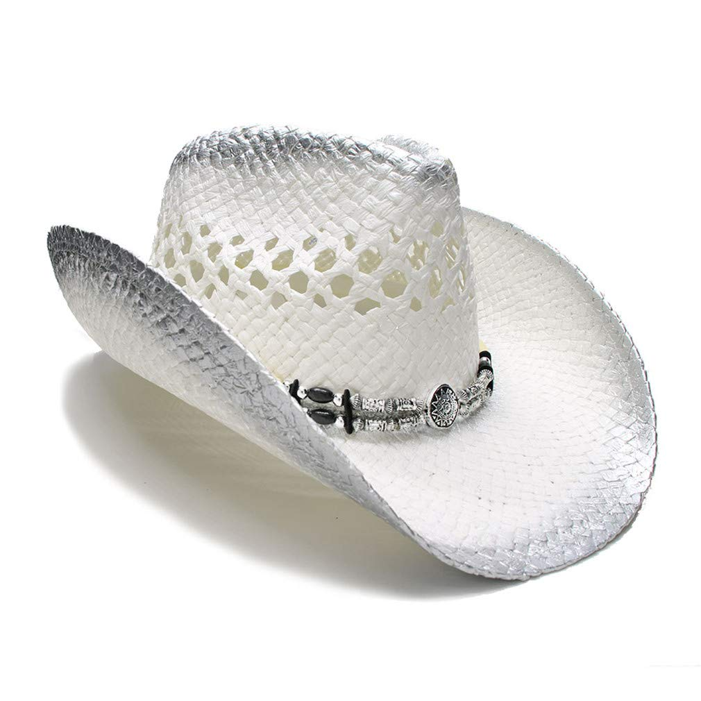 Summer Straw Beach Wide Brim Cowboy Western Hat