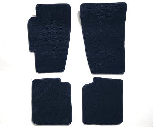 Premier Custom Fit 4-piece Set Carpet Floor Mats for Toyota Highlander (Premium Nylon, Navy Blue)