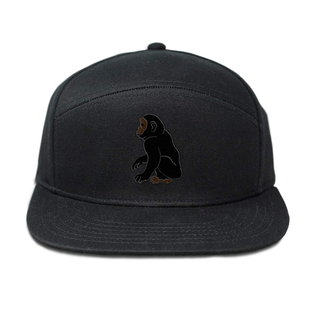 Custom Snapback Hats for Men /& Women Black and Brown Ape Embroidery Cotton