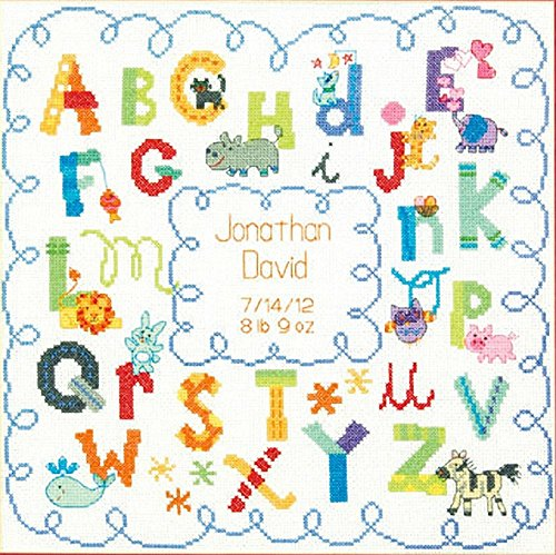 Dimensions Alphabet Birth Record Counted Cross Stitch Kit, 12