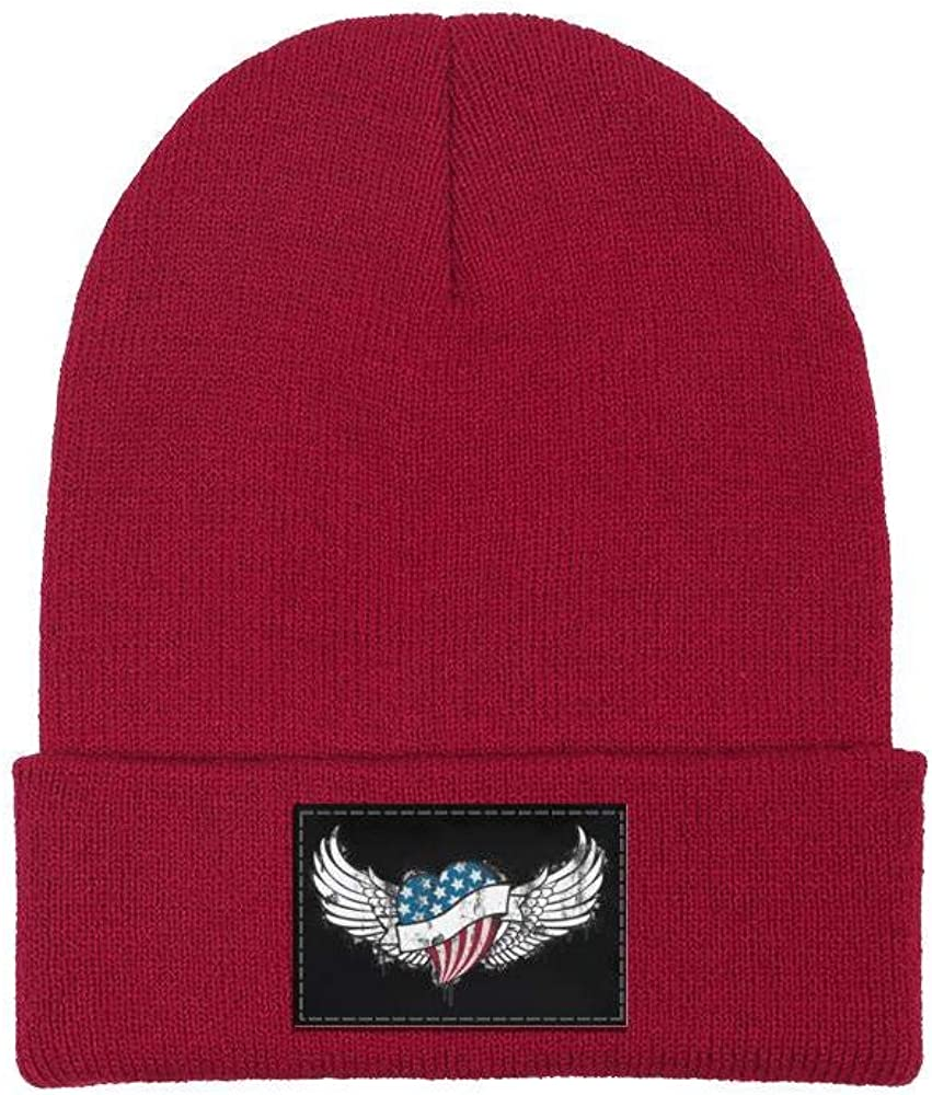 FYFYOK Mens Slouchy Beanie Hat Winter Hats American Flag Independence Day Multifunction Cap