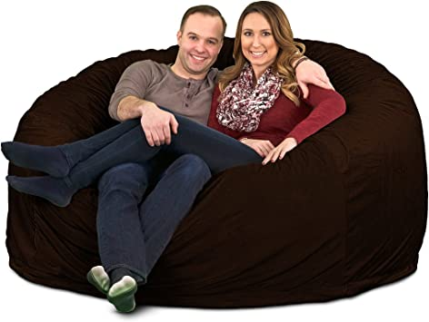 Machine Washable Covers Double Stitched Seams Durable Inner Liner. ULTIMATE SACK Bean Bag Chairs in Multiple Sizes and Colors: Giant Foam-Filled Furniture 3000, Brown Suede