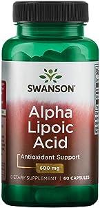Swanson Alpha Lipoic Acid 600 Milligrams 60 Capsules