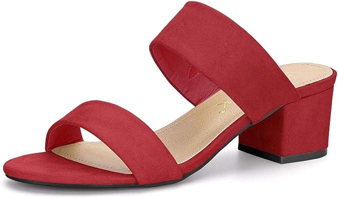 Allegra K Womens Color Block Slide Sandals Sandals