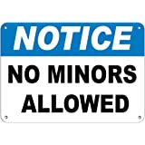 Notice No Minors Allowed Hazard Sign Marijuana Dispensary Aluminum METAL Sign