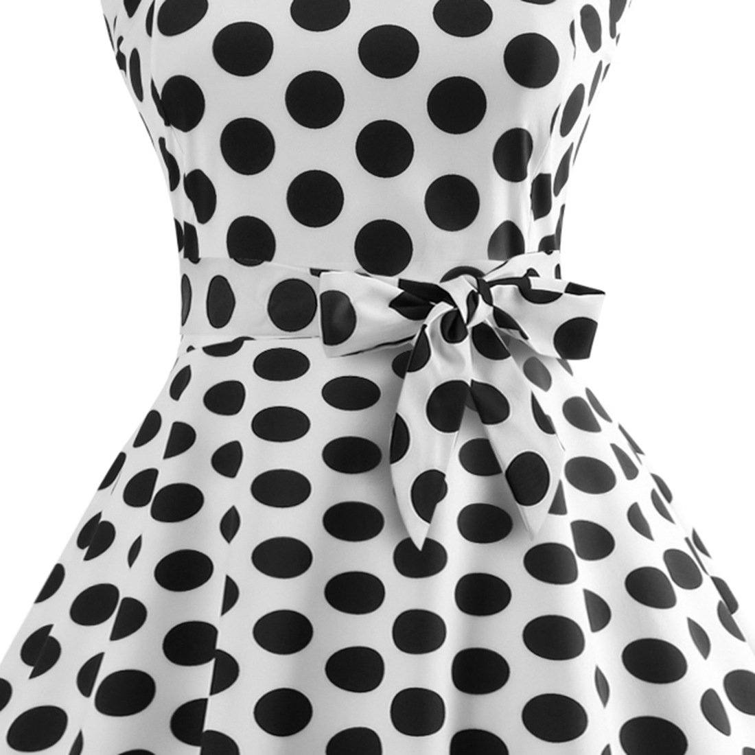 9ad6ffd199b Sheng Xi Women s Vintage Polka Dot Prom Dresses 50 s Rockabilly Bandage at  Amazon Women s Clothing store