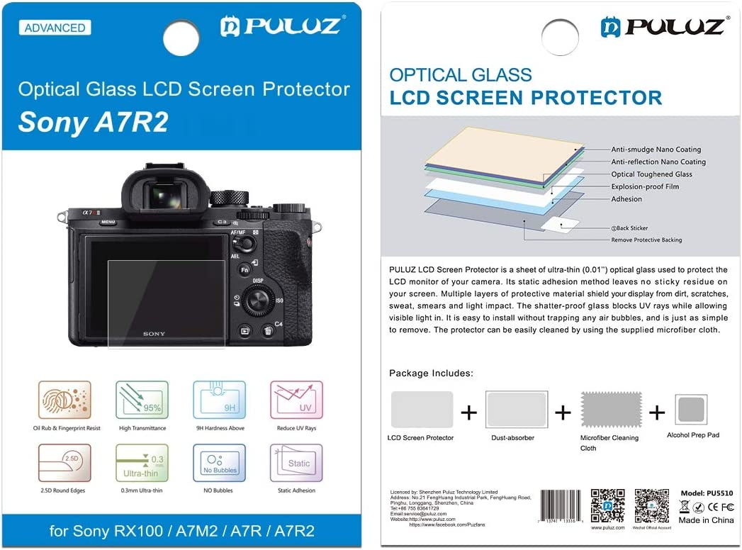 A77 RX10 RX100-2 RX1 2.5D 9H Tempered Glass Film for Sony RX100 RX100M3 //RX10IV//III//II Durable RX1R Compatible with Sony A7M2 A7SM2