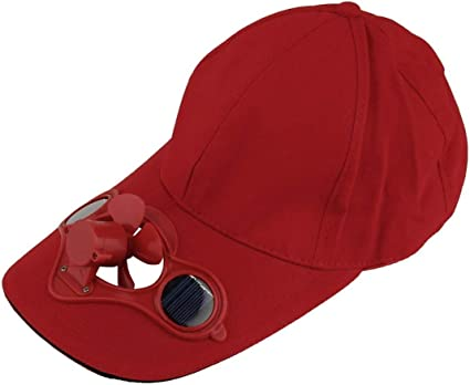 Heaviesk Ventilador de energía solar Gorro para sombrero Deporte ...