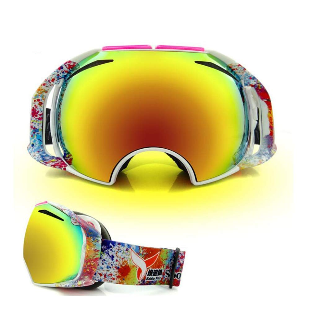 He-yanjing Ski Goggles for Men and Women,Anti-Fog Jet Snow Skiing Skis Goggles,Climbing Mirror,Jumper Mirror,Free Mirror,Fashion Outdoor Hiking ski Goggles (Color : A) by He-yanjing