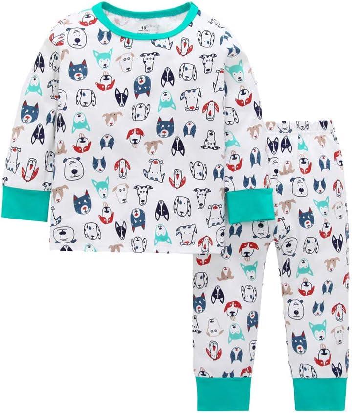 GorNorriss Pijama de Manga Larga Unisex para bebé + Pantalones, Pijamas, Pijamas de algodón orgánico sin pies: Amazon.es: Hogar