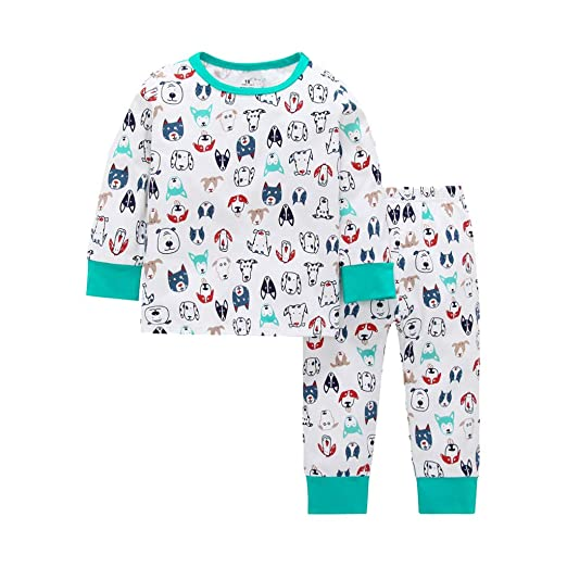 Amazon.com: Iuhan Pajamas Set Toddler Baby Long Sleeve Cartoon ...