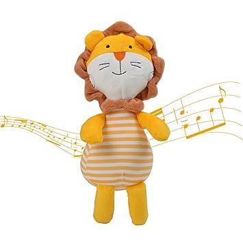 Tumama Music - Peluches con forma de animal para dormir, juguetes con campanillas