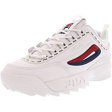 Fila Disruptor 2 Premium Repeat White/Navy/Red (Womens)