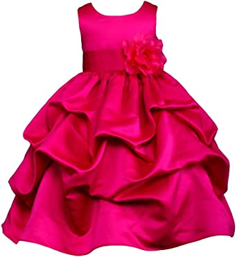 Amazon Com Pink Promise Fuchsia Hot Pink Wedding Pageant Flower Girl Pick Up Dress With Bow Clothing,Mermaid Sweetheart Lace Allure Wedding Dresses