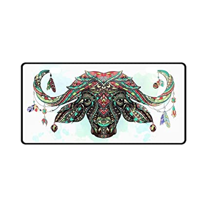 qidushop Head of The Buffalo - Marco Decorativo para matrícula de ...