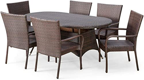 Christopher Knight Home Blakely Outdoor Wicker Dining Set