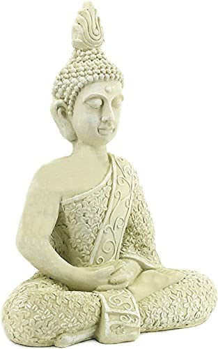 Bellaa 23608 Buddha Statues Meditation Outdoor Garden Decor Lucky Budha Japanese Zen Buddhist Present