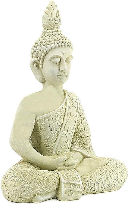 Amazon Com Bellaa 23608 Buddha Statues 22 Inch Budha Meditation Sitting Blessing Dhyana Mudra Yoga Pose Outdoor Garden Decor Japanese Zen Buddhist Presents For Mom Gifts For Grandma Kitchen Dining