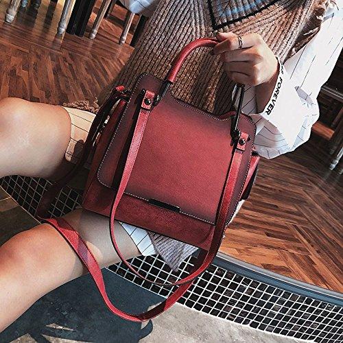 ZCM Frauen neue weibliche Tasche Handtasche kleine beiläufige Umhängetaschen Crossbody Umhängetasche Arbeit Shopping Travel Geldbörse für Damen-4 Farbe Optional Rot