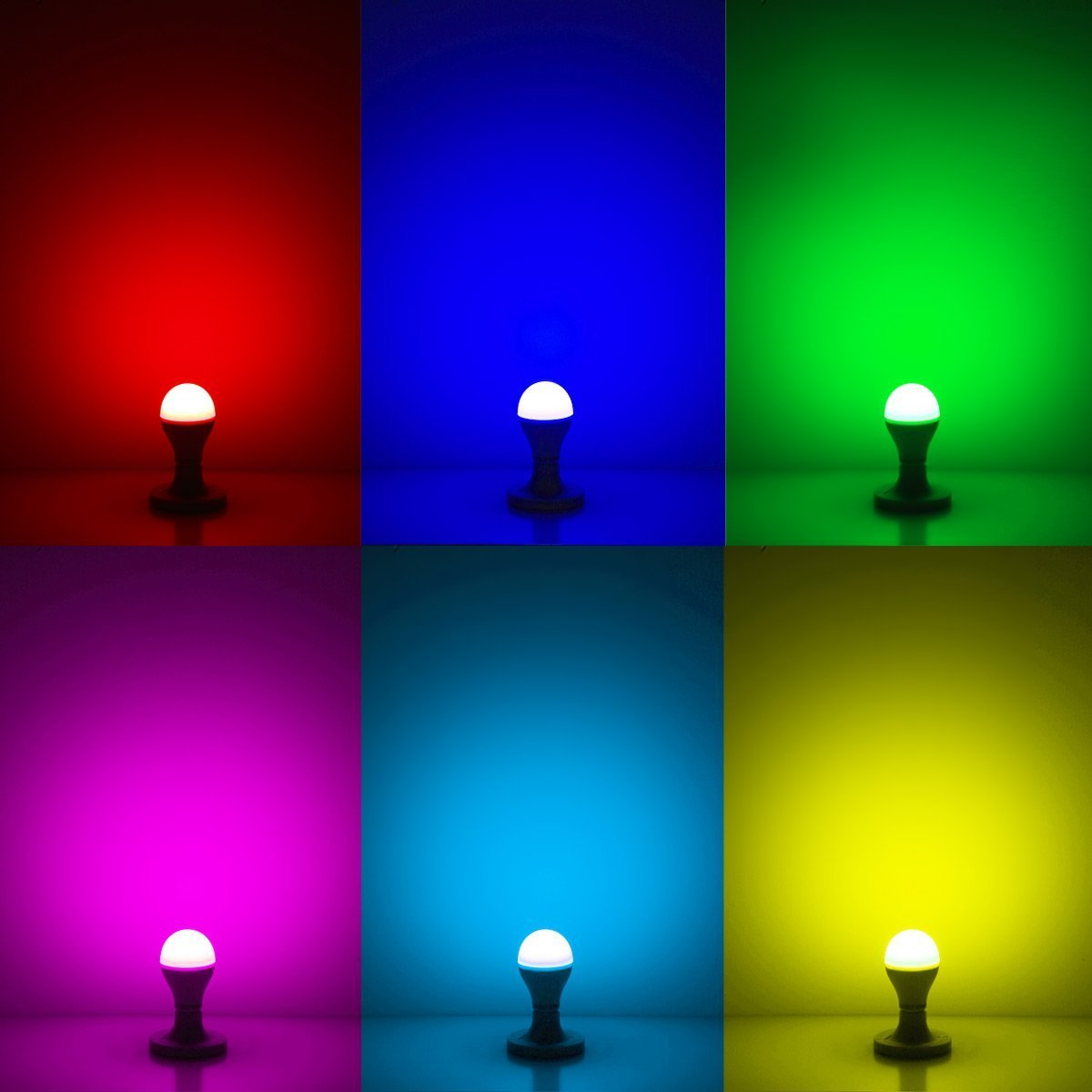 LE E27 RGB LED Lampen, ersetzt 60W Glühbirne, 10W Dimmbar A70 ...