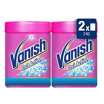 Vanish Quitamanchas Polvo Oxi Action, 2 x 1 kg