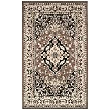 Elegant Kitchen Rugs Superior Elegant Glendale Collection Area Rug, 8mm Pile Height with Jute Backing, Traditional Oriental Rug Design, Anti-Static, Water-Repellent Rugs - Brown, 4' x 6' Rug