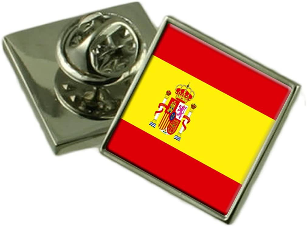 Select Gifts España Bandera Insignia de Solapa de Plata Maciza 925: Amazon.es: Joyería
