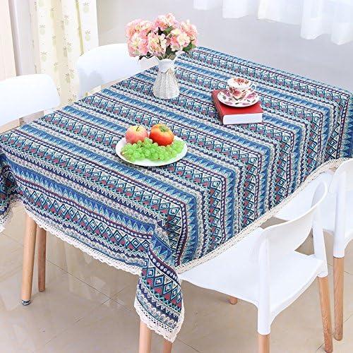 WEN-Manteles Mantel de algodón y Lino Vintage Table Cover Bohemian Style Home Manteles de Mesa (Tamaño : 55.1 * 78.7inch): Amazon.es: Hogar