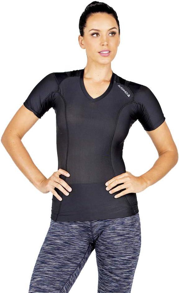 Camiseta de postura para mujer 2.0 | Soporte de postura, activación muscular, tensión de espalda y alivio del dolor |